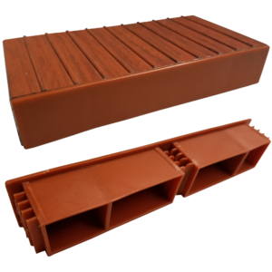 Brown decking end caps 10914