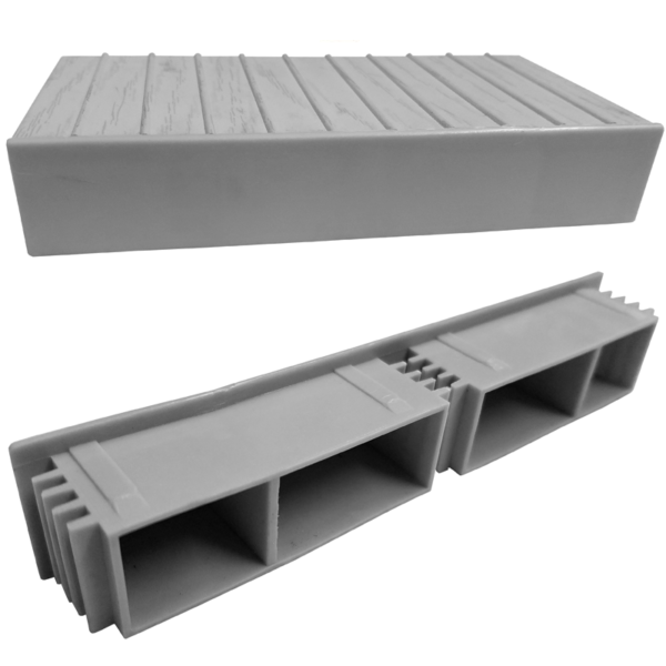 Gray decking end caps 10915
